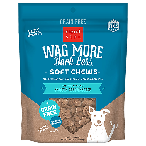 Wag More Bark Less Cheddar Soft & Chewy 5oz