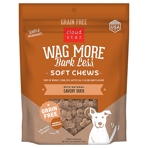 Wag More Bark Less Duck Soft & Chewy 5oz