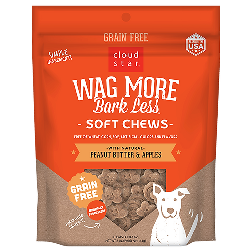 Wag More Bark Less Peanut Butter Apple Soft & Chewy 5oz