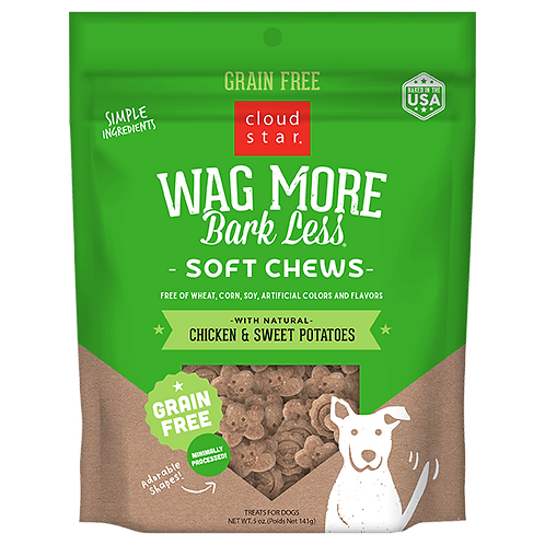 Wag More Bark Less Chicken Sweet Potato Soft & Chewy 5oz