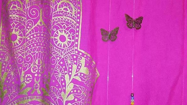 Mariposa Ocre con arcoiris