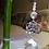 Thumbnail: Merkaba con Brillantes en plateado y Cuarzo Rosa