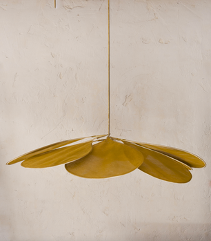 Pale Ceiling Lamp Yellow