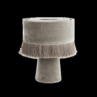 Velvet Table Lamp Grey