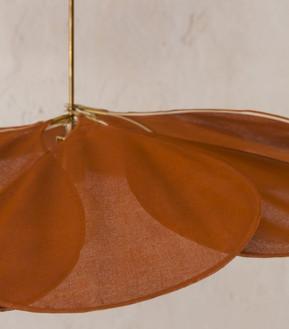 Pale Ceiling Lamp Terracotta