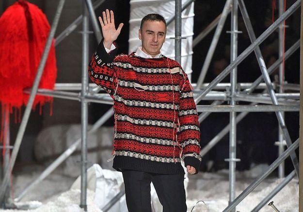 Raf Simons during his last Fashion Show