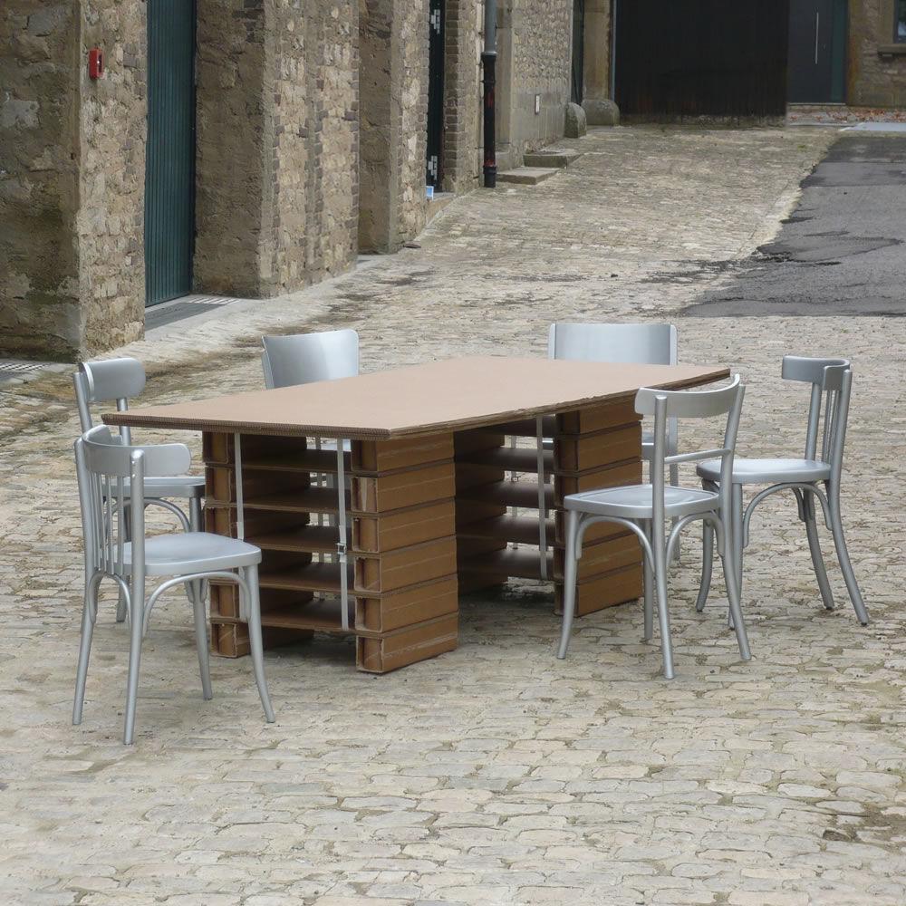 CARDBOARD CREATIVITY TABLE