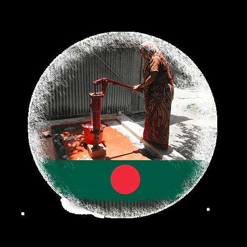 Wasserbrunnen mit Handpumpe in Bangladesch