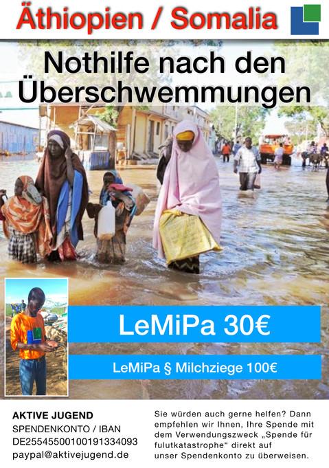 Überschwemmung in Äthiopien und Somalia
