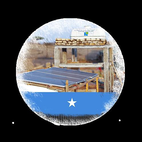 Wasserbrunnen mit Solar Pumpensystem in Somalia