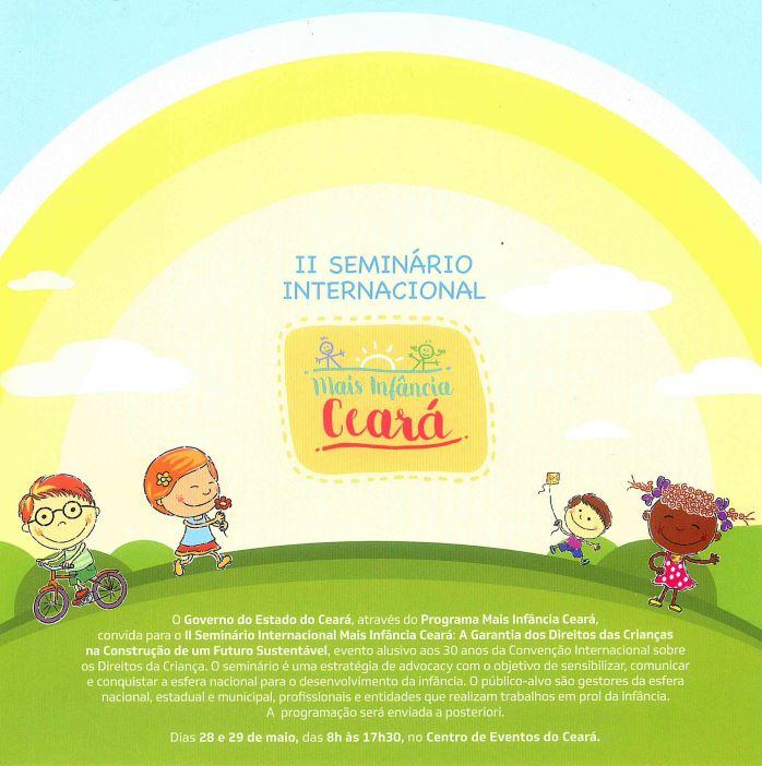 Seminário Int. Mais infância Ceará