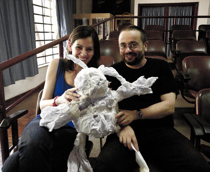 Irene Quintáns y Jorge Raedó