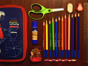 School supplies, Fun & Be Fit Day Visitor Badges & K-8 School Building Plans!