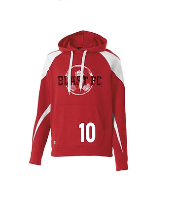 BLAST FC color block hoodie- with customized #