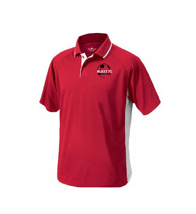 BLAST FC wicking color block embroidered polo