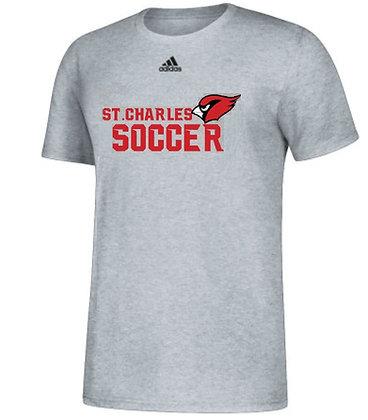 Adidas Cardinal soccer tee- Adults