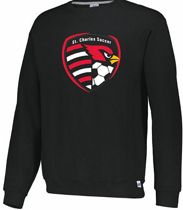 Russell Athletic youth SC crest soccer crew sweatshirt