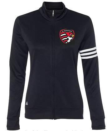 Adidas ladies  3 stripe french terry Soccer crest jacket