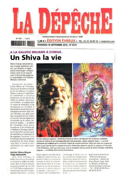 Article 16.9.2016 la dépêche: A Shiva, a life