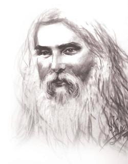 Shiva Guruji self portrait black & white