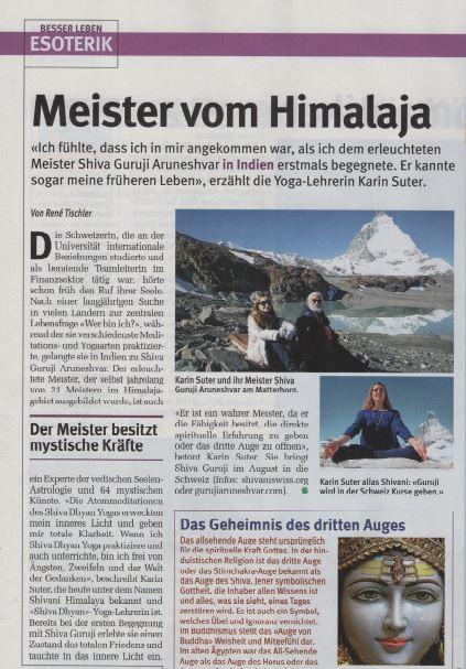 Article Swiss Magazine Glueckpost July 2017