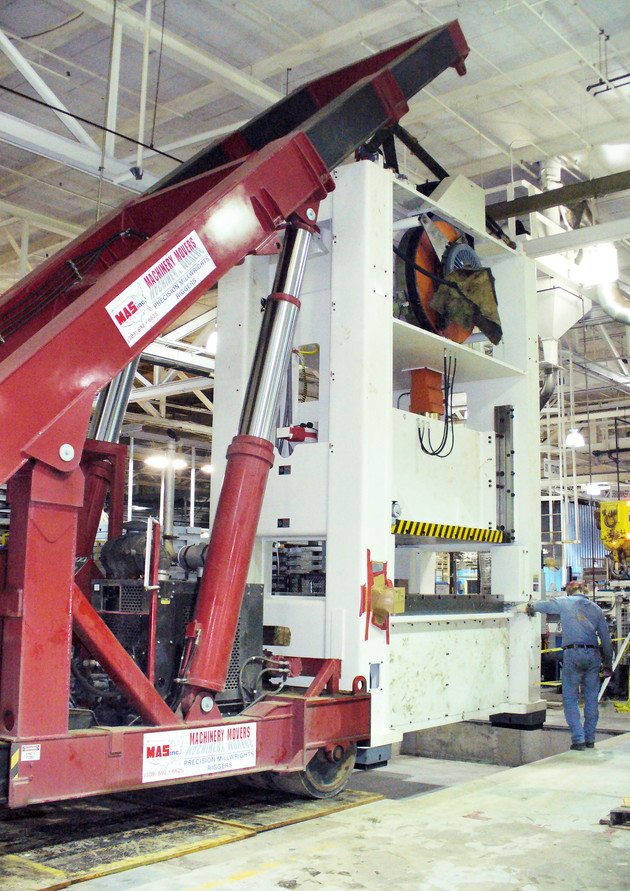 400 Ton Press Install