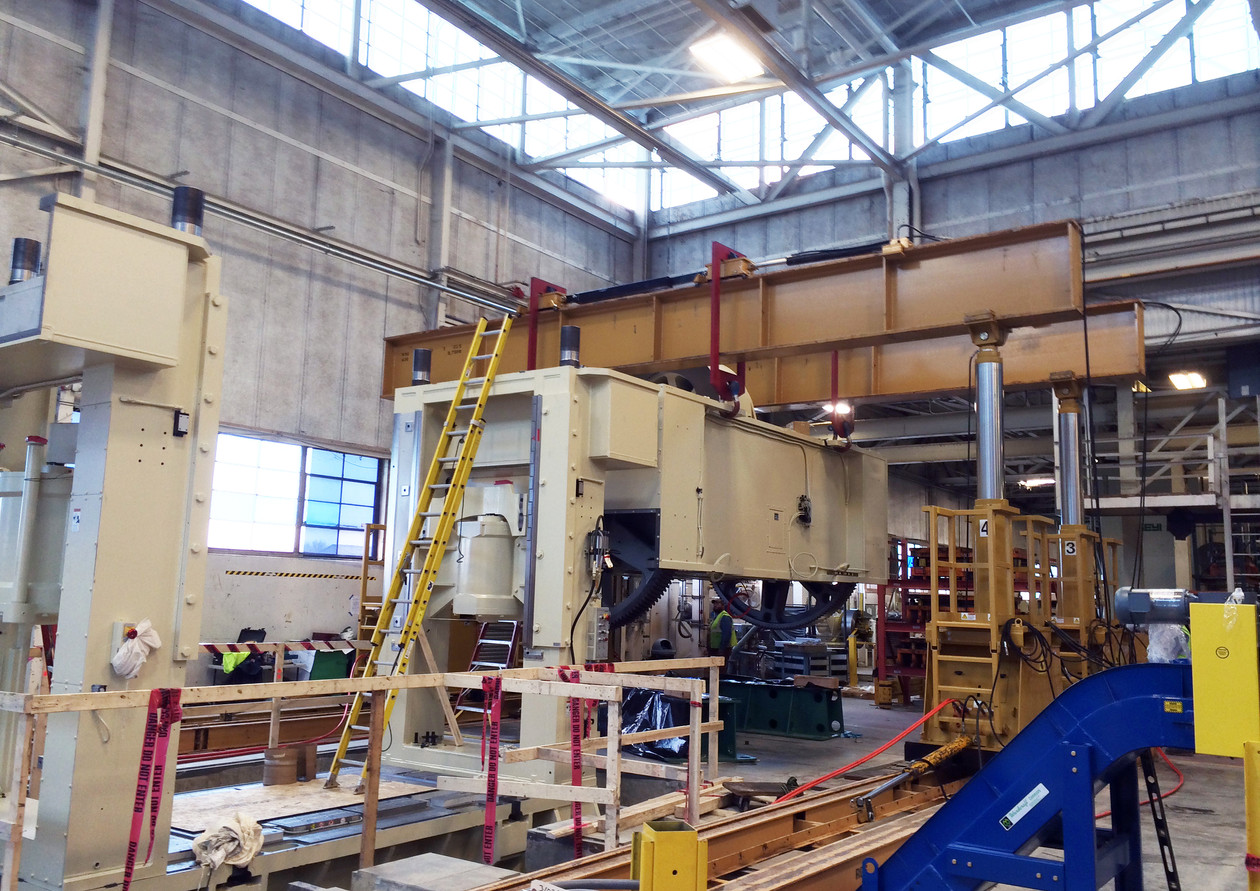 1000 Ton Minster Press Install