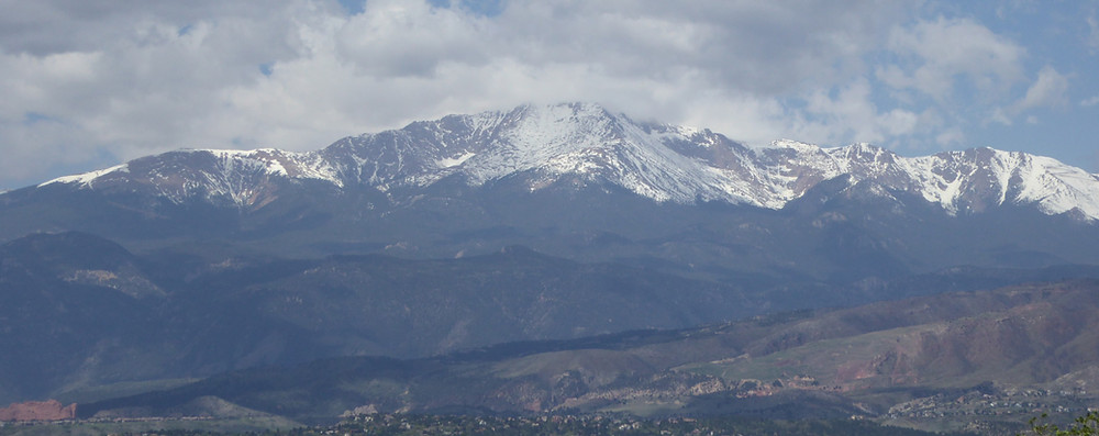 Snow-capped mountains in the distance