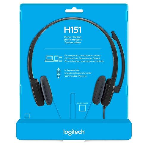 Audífonos Logitech H151 3.5mm Plug Stereo Control Integrado