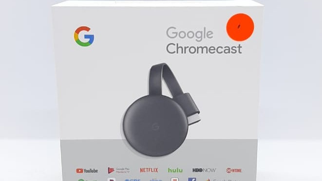 CHROMECAST GOOGLE 3RD GEN. WIRELESSLY STREAM UP TO 1080P DUAL BAND 80.11A WI