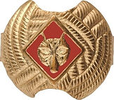 Boy Scouts of Am Red Wolf neckerchief sl