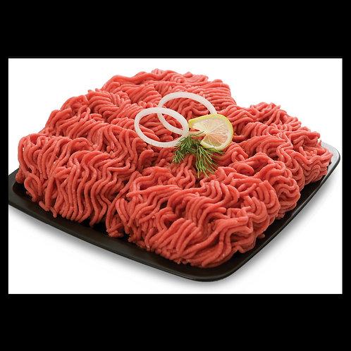 نصف كيلو لحم عجل مع دهن مفرومة