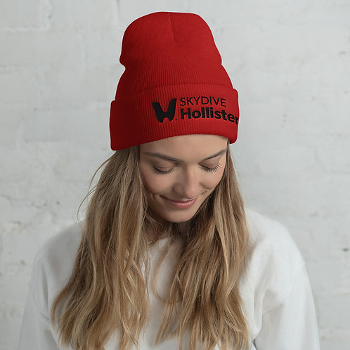 Skydive Hollister Unisex Beanie - Black Logo Embroidered