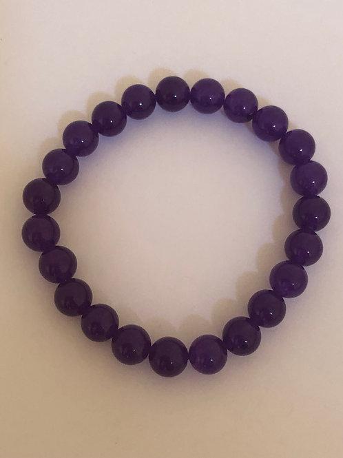 Purple Jade Bracelet