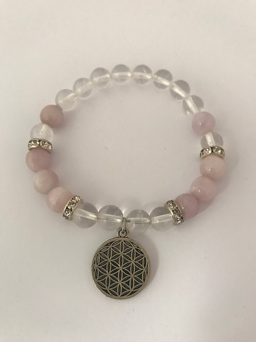 Kunzite & Clear Quartz Bracelet