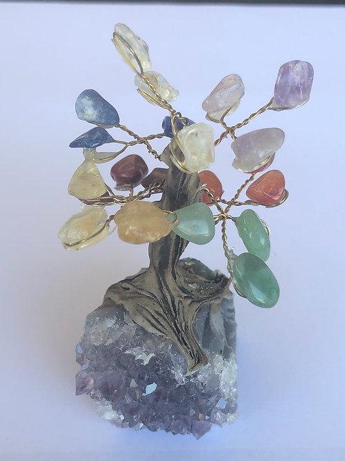 Chakra Tree With Amethyst Base