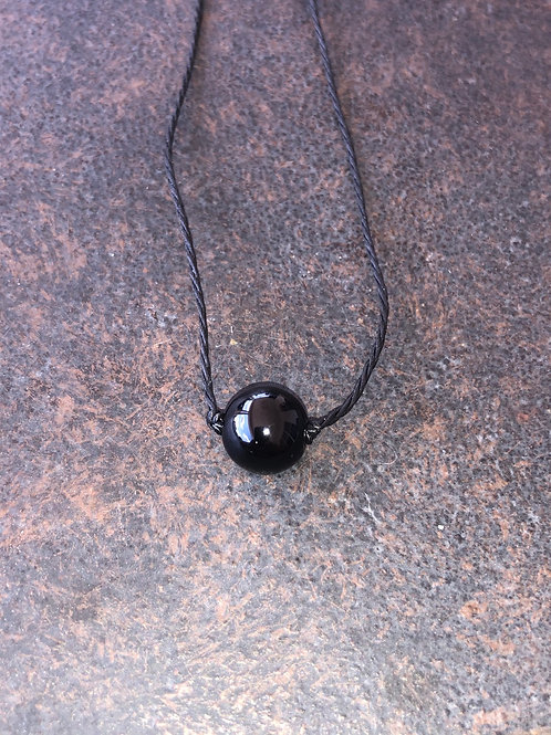 Black Obsidian Choker Necklace