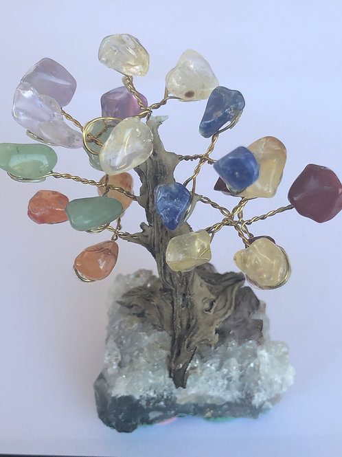 Chakra Tree With Clear Quartz Base