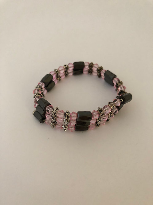 Rose Quartz Magnetic Bracelet