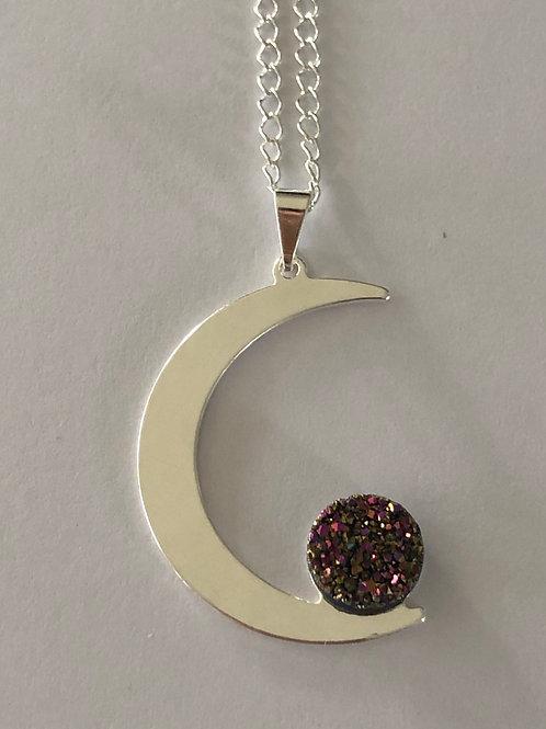 Flame Aura Quartz Necklace