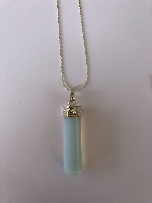 Opal Pencil Necklace