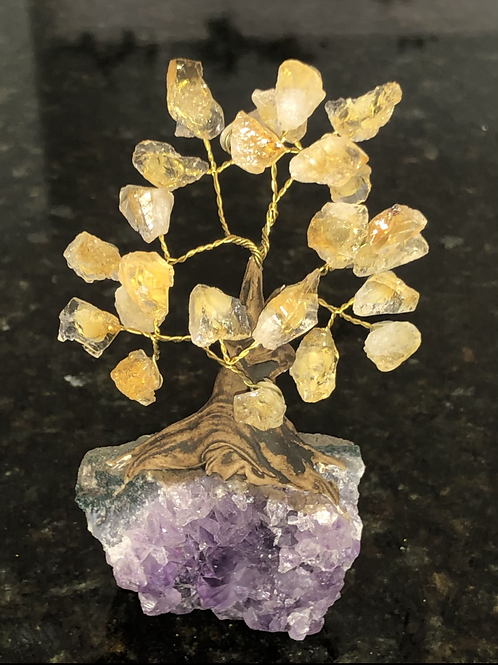 Citrine Amethyst Bonsai Tree