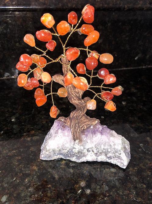 Carnelian Tree Amethyst Base