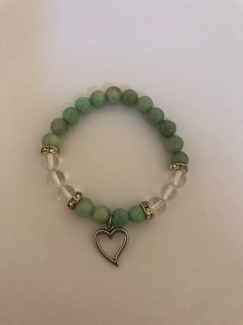Amazonite & Clear Quartz Bracelet