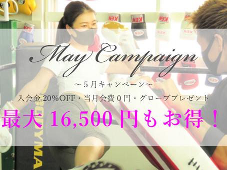 【5月キャンペーン情報】