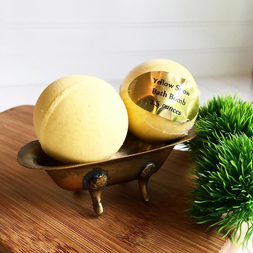 Yellow Snow - Mini Bath Bomb