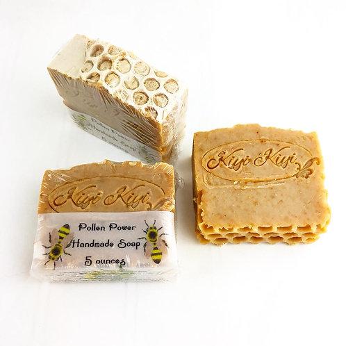 Pollen Power -Beeswax & Honey Soap