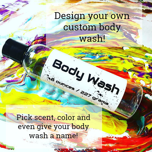 Custom Shower Gel, Body Wash - 8 ounces