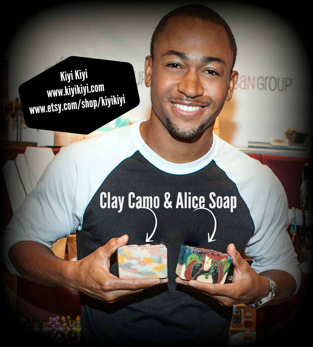 Percy Daggs with Kiyi Kiyi Soap
