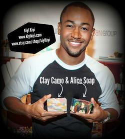 Percy Daggs with Kiyi Kiyi Soap